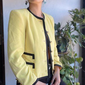 Vintage | Louis Feraud Yellow Wool Jacket
